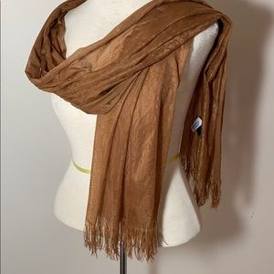 Charming Charlie sheer lace fringed scarf wrap